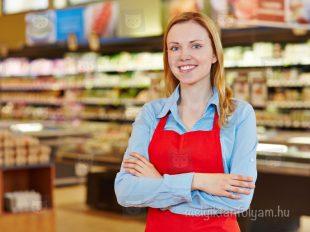 Bolti eladó tanfolyam gyakorlat élelmiszer osztályon egy hipermarketben